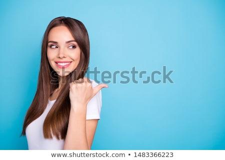 bianco · sexy · cravatta · bella · donna · sexy · indossare - foto d'archivio © elnur