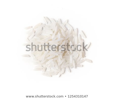 marrón · arroz · cucharón · aislado · blanco - foto stock © handmademedia