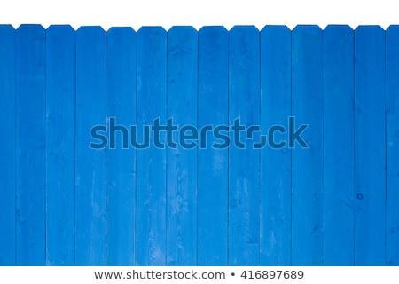 木製 フェンス 着色した ロイヤル 青 塗料 ストックフォト © ozgur