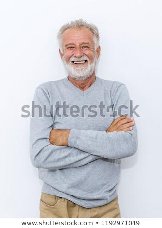 happy smiling elder senior man portrait stock photo © zurijeta