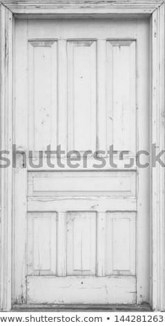 Grunge klasszikus ajtó Santorini üzlet épület Stock fotó © vwalakte