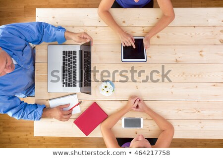 Neat clean business meeting around a table Stock photo © ozgur