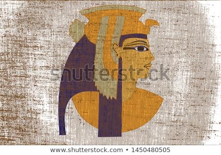 Египет иллюстрация закат путешествия золото история Сток-фото © adrenalina
