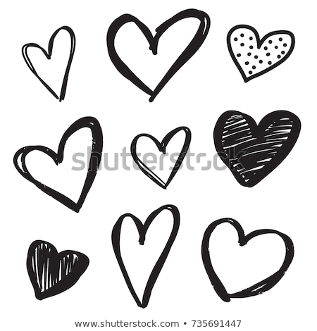 Stock photo: Heart Sketch Icon