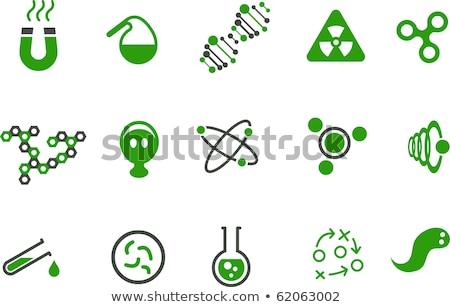 test tube with drop sketch icon stock photo © rastudio
