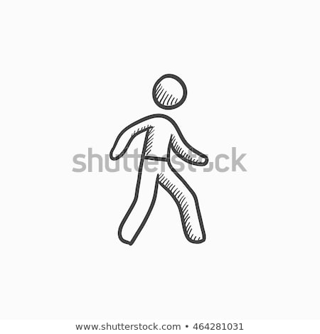 Pedestrianism sketch icon. Stock photo © RAStudio