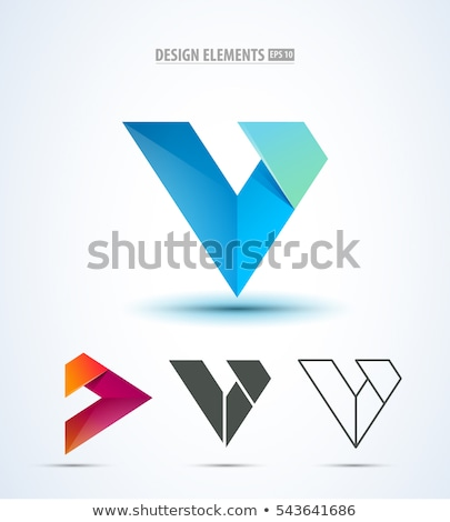 Round Glossy Letter A 3d Blue Logo Icon Stock photo © cidepix