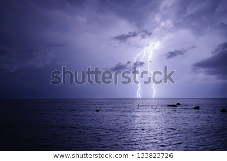 Purple lightning over the sea Stock photo © Anna_Om
