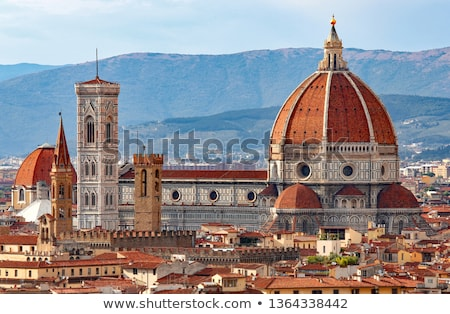 Florence basiliek Italië Blauw witte Stockfoto © lorenzodelacosta