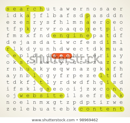 Puzzle with word Seo Stock photo © fuzzbones0