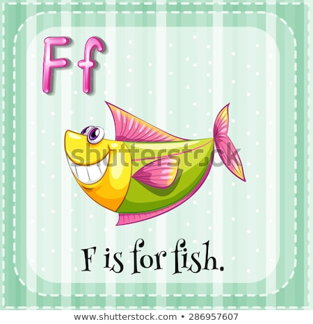 Flashcard letter F is for food Stock photo © bluering