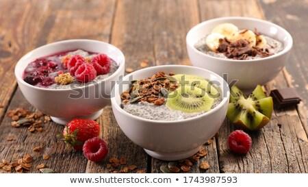 Puchar pudding kubek krem słodkie szczegół Zdjęcia stock © Digifoodstock
