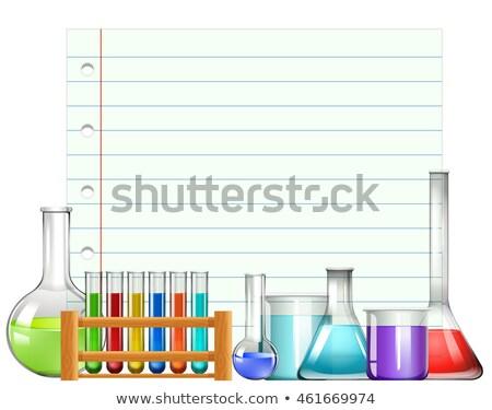 Papír terv háttér keret művészet labor Stock fotó © bluering