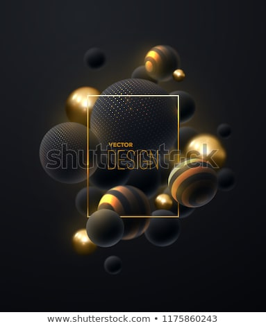 Vector illustration of Beads isolated on black background Stock photo © zurijeta
