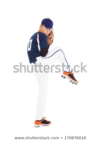 An Asian baseball player Stock photo © bluering