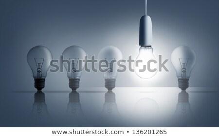 rij · Blauw · licht · technologie · energie - stockfoto © zerbor