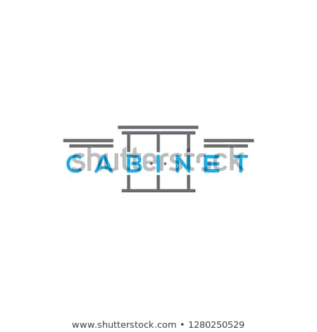 Kitchen cabinet with drawers vector illustration. Stock photo © RAStudio