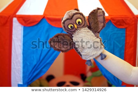 Children playing with hand puppets Stock photo © bluering