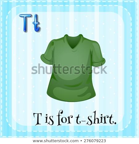 T betű póló illusztráció háttér művészet oktatás Stock fotó © bluering
