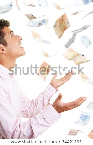 pénz · zuhan · égbolt · férfi · alatt · háttér - stock fotó © kentoh