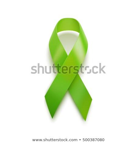 Realista verde fita 3D ícone isolado Foto stock © Said