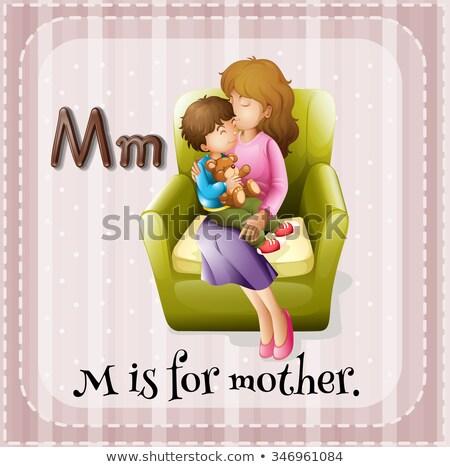 Mektup m anne örnek çocuklar çocuk arka plan Stok fotoğraf © bluering