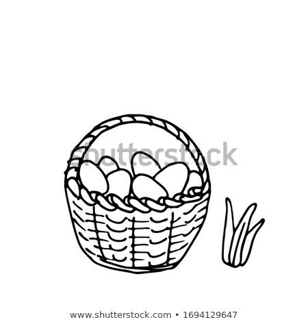 páscoa · cesta · ovos · livro · para · colorir · livro · ovo - foto stock © Natali_Brill