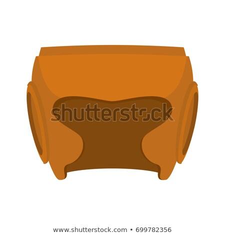 革 · ツール · 真鍮 · リング · 木板 - ストックフォト © popaukropa