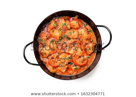 鶏 シチュー 白 表 トマト ストックフォト © janssenkruseproducti