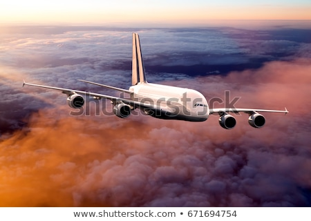 accelerated plane at sunset Stock photo © ssuaphoto