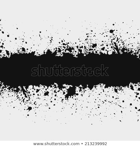 Siyah mürekkep sıçramak hatları su soyut Stok fotoğraf © SArts