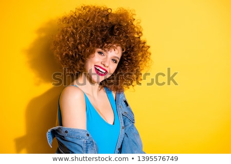 portret · mooie · jonge · vrouw · heldere · gouden · make-up - stockfoto © deandrobot