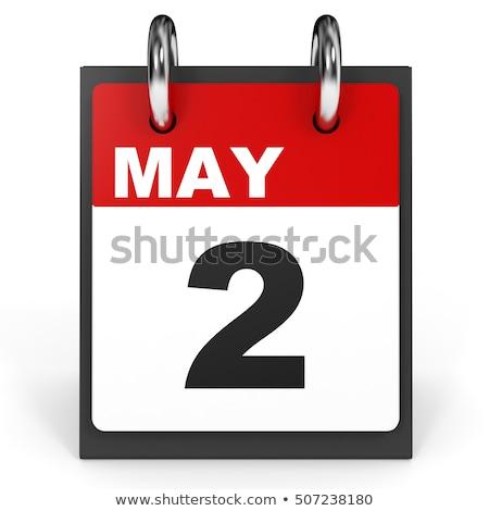 illustratie · elegante · houten · kalender · witte · papier - stockfoto © oakozhan