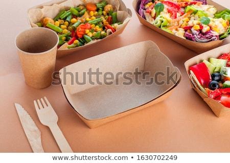 Beige coupe piatto cena clean Foto d'archivio © Digifoodstock
