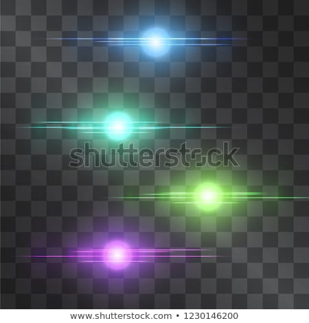 set of transparent light effects and sparkles with lens flares b Stock photo © SArts