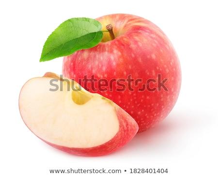 Jeden całość jabłko kwartał kawałek owoców Zdjęcia stock © Digifoodstock