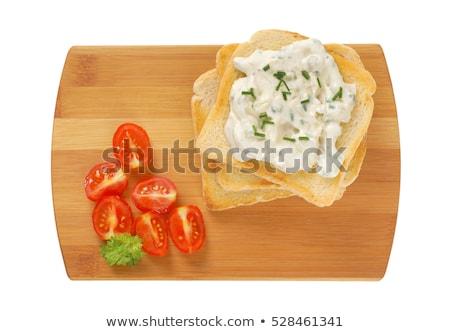 焼いた 白パン クリーミー チャイブ スライス ストックフォト © Digifoodstock