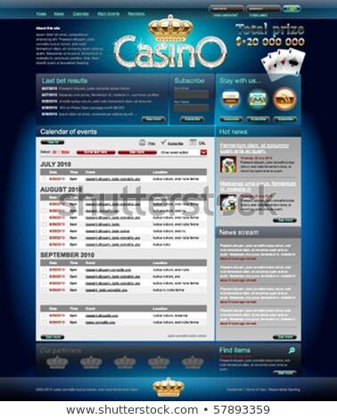 Casino Gambling Website Template Stock photo © robuart