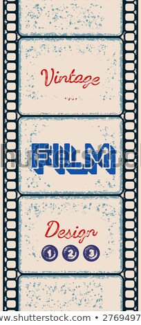 Grungy poster with letterpress styled film strip Stock photo © SwillSkill