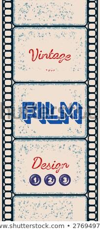 Filmstreifen · Grunge · zwei · Streifen · Pass - stock foto © swillskill