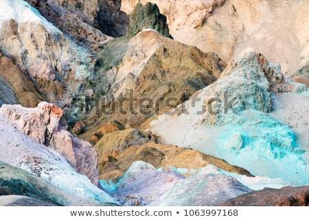 Bergen palet dood vallei blauwe hemel Stockfoto © meinzahn