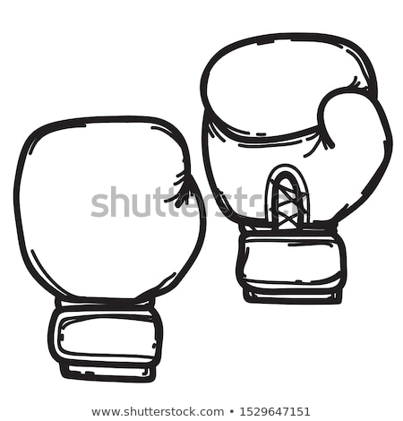 Hand drawn boxing gloves isolated on white background. Design el Stock photo © masay256