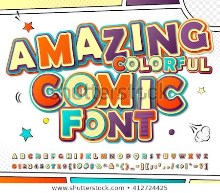 English alphabet font design in blue color Stock photo © bluering