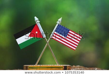 Сток-фото: США · Иордания · флагами · флаг · звезды