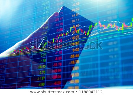 candle stick stock market trading chart with bullish high and be Stock photo © SArts