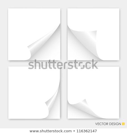 beyaz · sayfa · parça · kâğıt · köşe · defter - stok fotoğraf © nicemonkey
