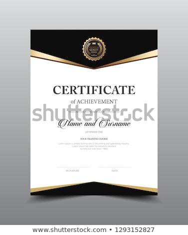 certificaat · waardering · moderne · sjabloon · ontwerp · succes - stockfoto © sarts