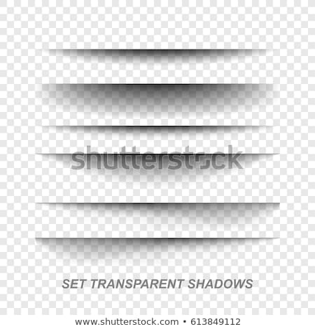 transparent paper line shadow effect vector set stock photo © sarts