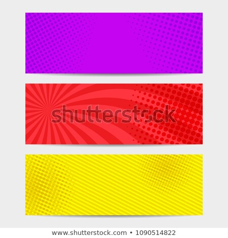 Stock foto: Bright Color Empty Banners With Halftone Effect