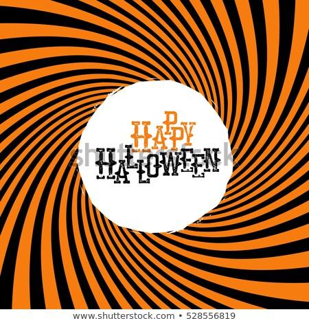 Feliz halloween tipografia laranja hipnótico Foto stock © pashabo